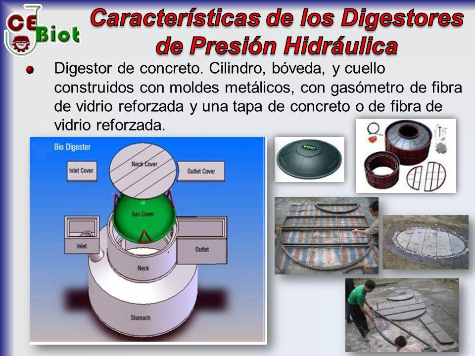 Características de los Digestores de Presión Hidráulica