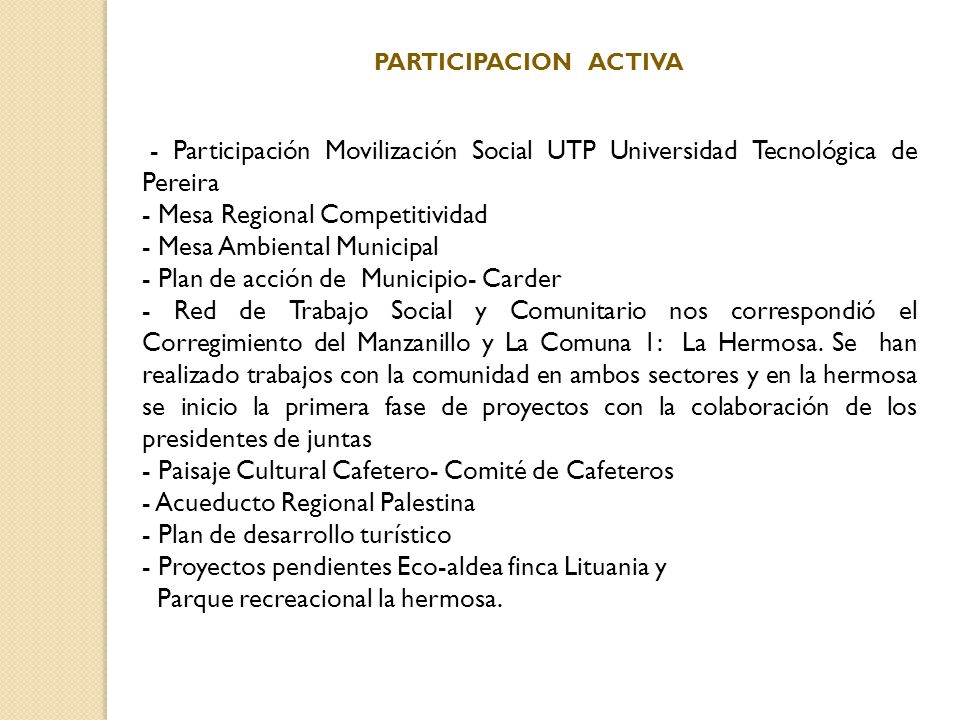 - Mesa Regional Competitividad - Mesa Ambiental Municipal