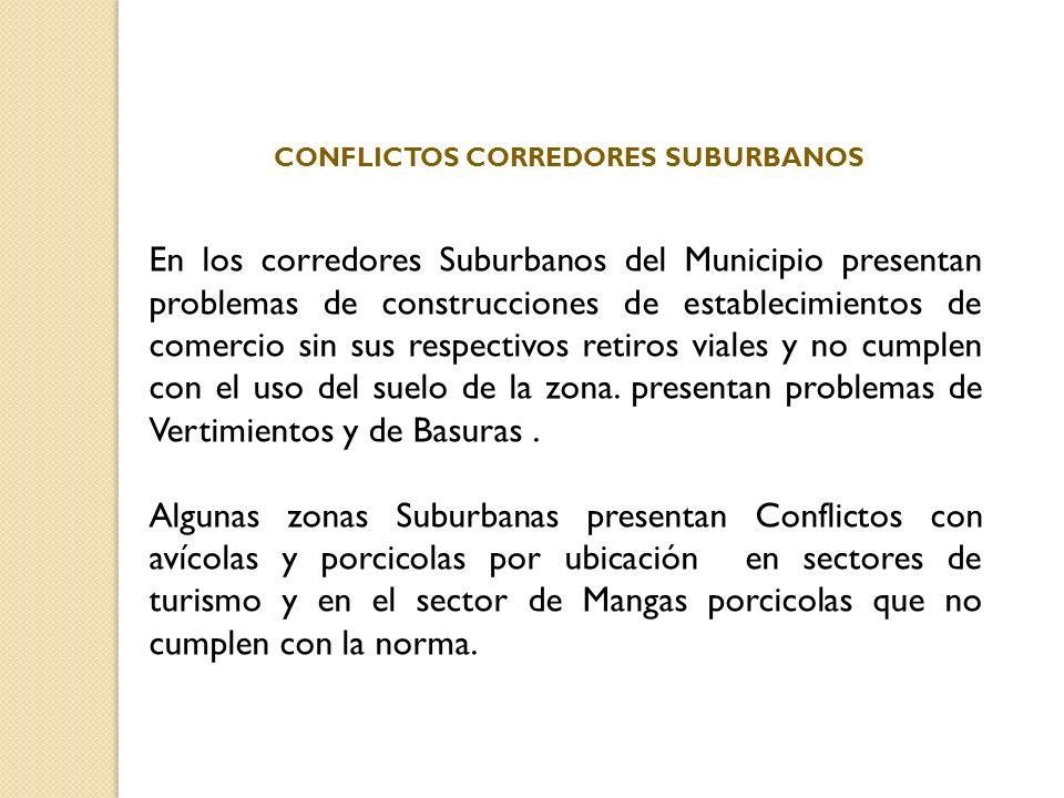 CONFLICTOS CORREDORES SUBURBANOS