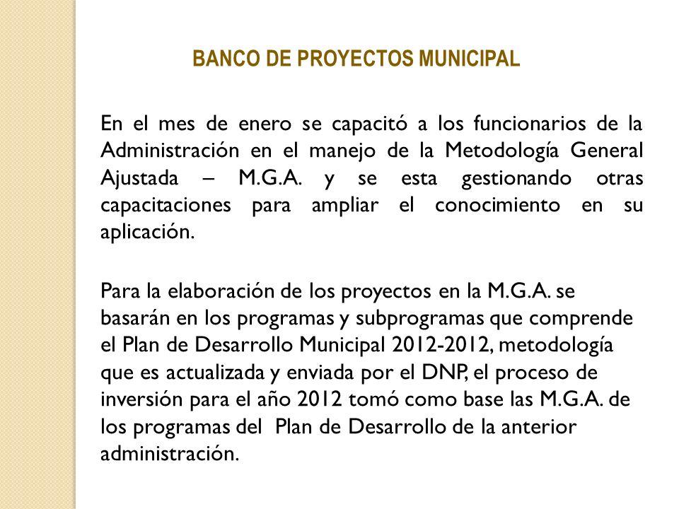 BANCO DE PROYECTOS MUNICIPAL