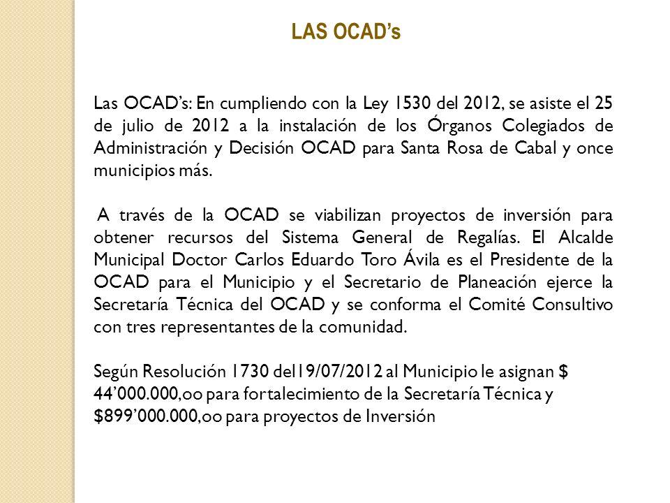 LAS OCAD's
