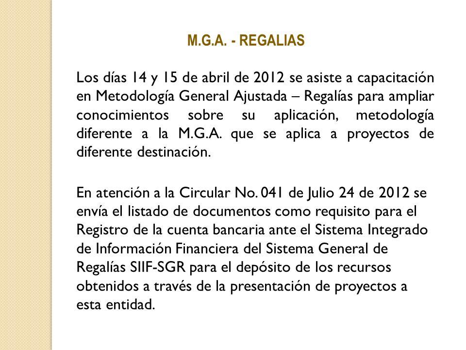 M.G.A. - REGALIAS.