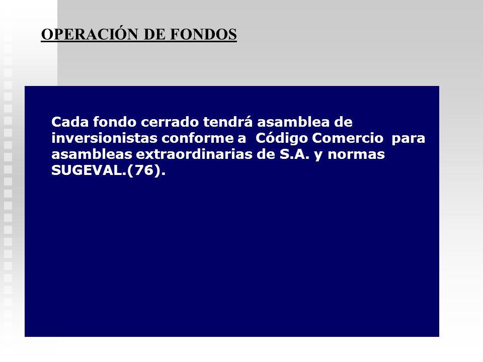 OPERACIÓN DE FONDOS