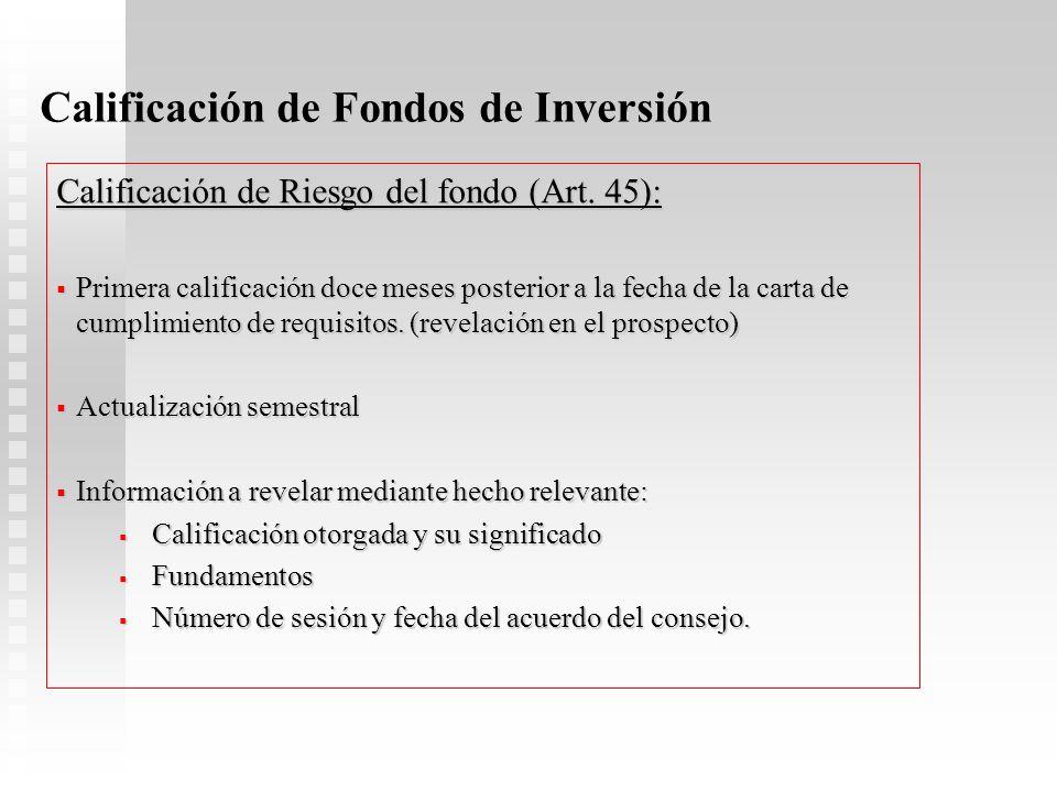 Calificación de Fondos de Inversión