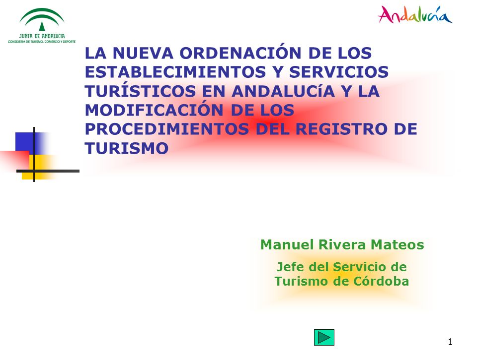 Manuel Rivera Mateos Jefe del Servicio de Turismo de Córdoba