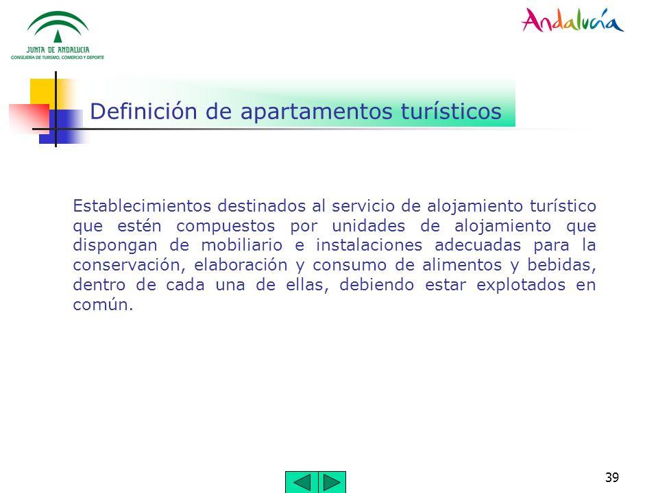 Definición de apartamentos turísticos