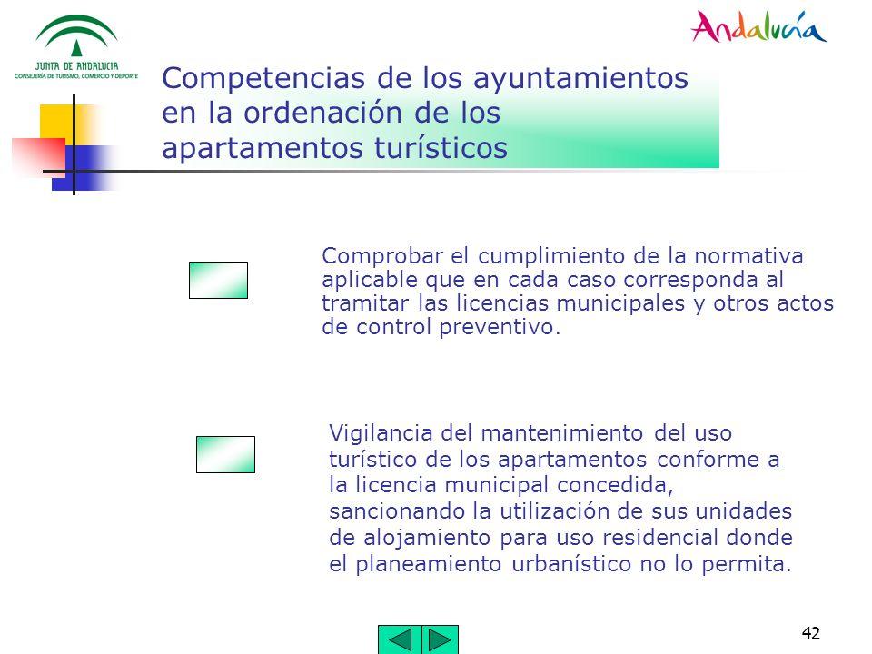 Competencias de los ayuntamientos en la ordenación de los apartamentos turísticos