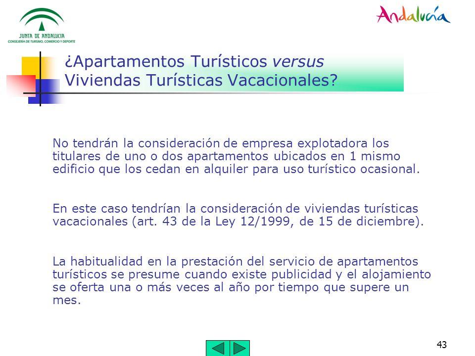 ¿Apartamentos Turísticos versus Viviendas Turísticas Vacacionales