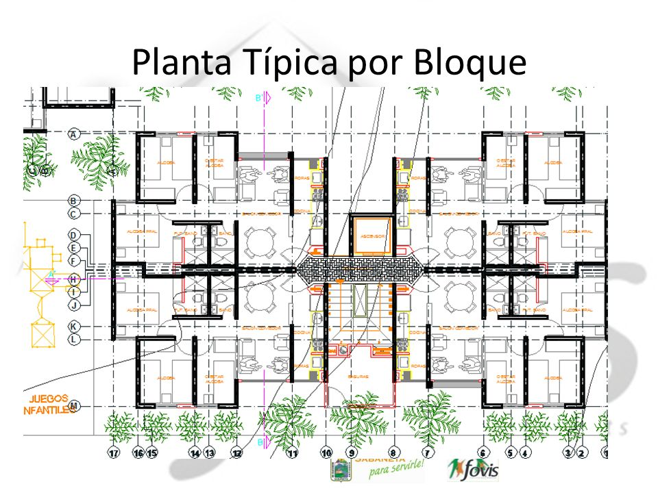 Planta Típica por Bloque