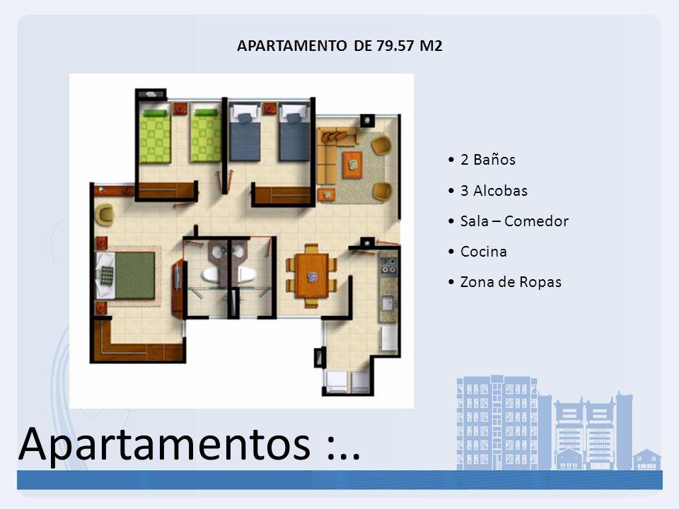 Apartamentos :.. APARTAMENTO DE 79.57 M2 2 Baños 3 Alcobas