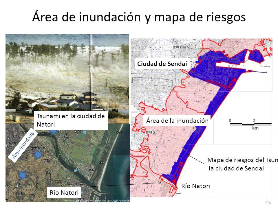 Área de inundación y mapa de riesgos