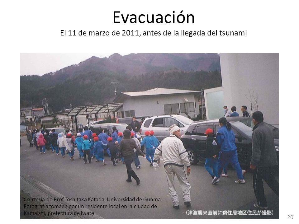 El 11 de marzo de 2011, antes de la llegada del tsunami