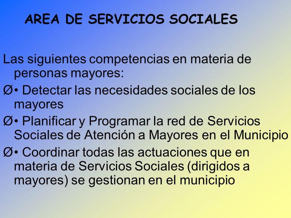 AREA DE SERVICIOS SOCIALES