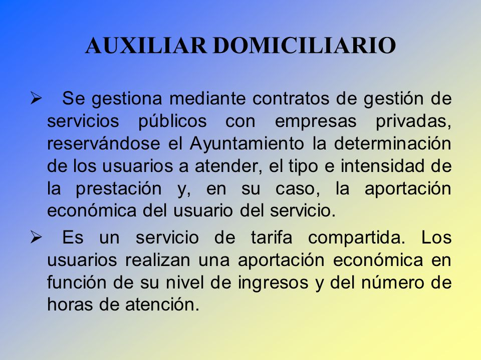 AUXILIAR DOMICILIARIO