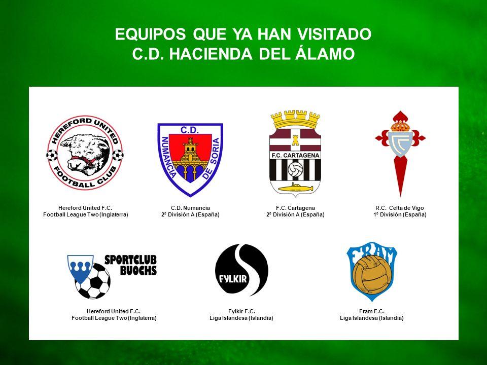 Football Teams EQUIPOS QUE YA HAN VISITADO C.D. HACIENDA DEL ÁLAMO