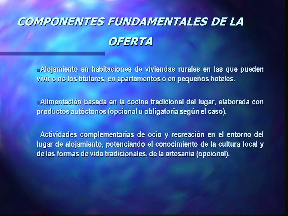 COMPONENTES FUNDAMENTALES DE LA OFERTA