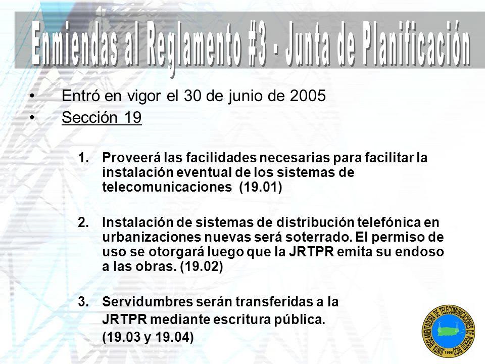 Enmiendas al Reglamento #3 - Junta de Planificación