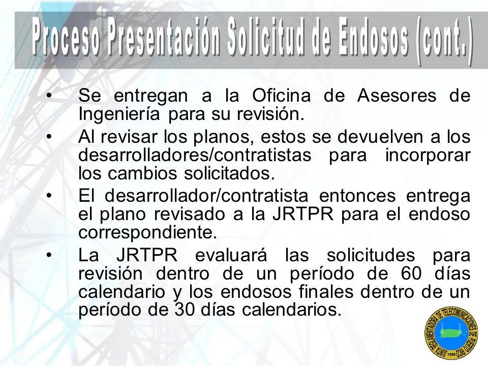 Proceso Presentación Solicitud de Endosos (cont.)