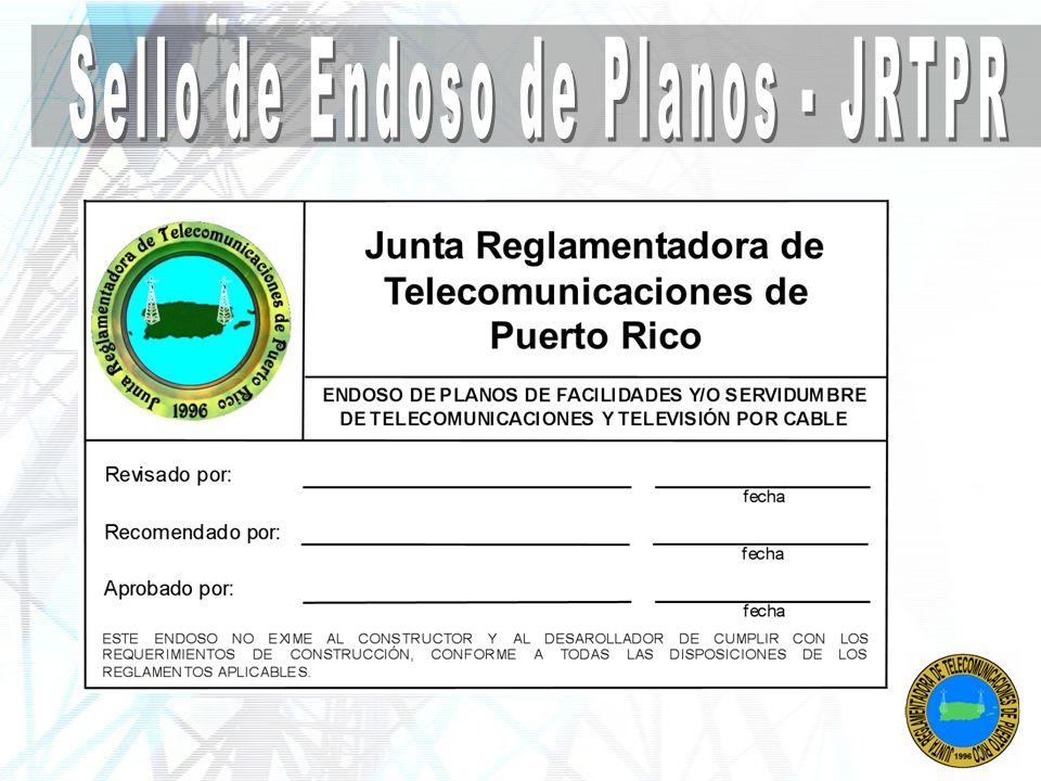 Sello de Endoso de Planos - JRTPR