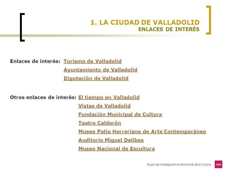 1. LA CIUDAD DE VALLADOLID ENLACES DE INTERÉS