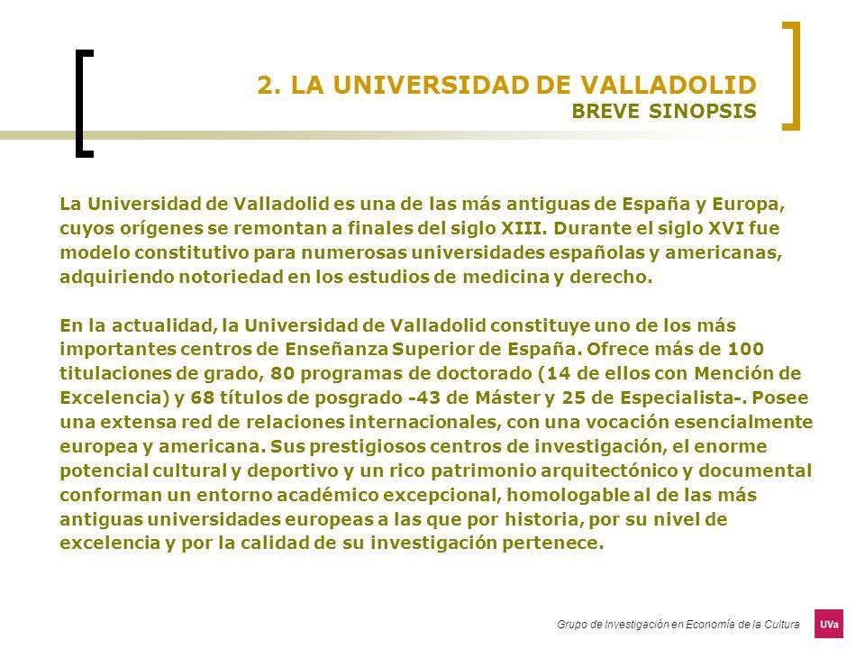 2. LA UNIVERSIDAD DE VALLADOLID BREVE SINOPSIS