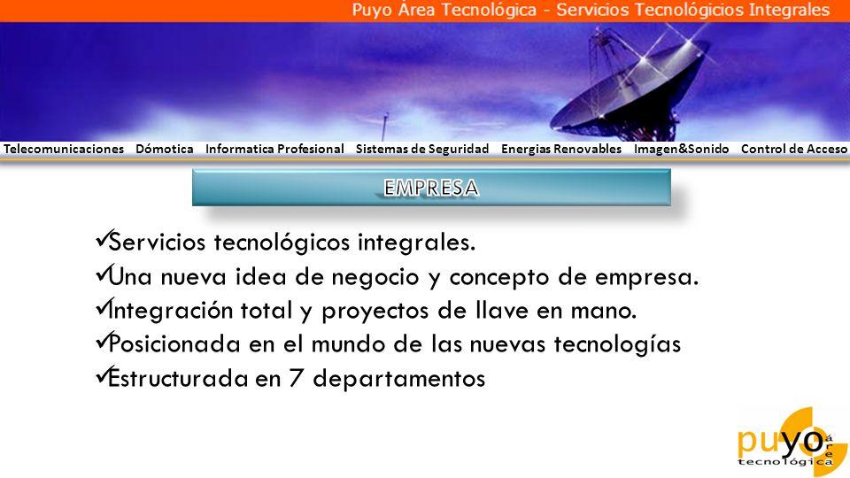 Servicios tecnológicos integrales.