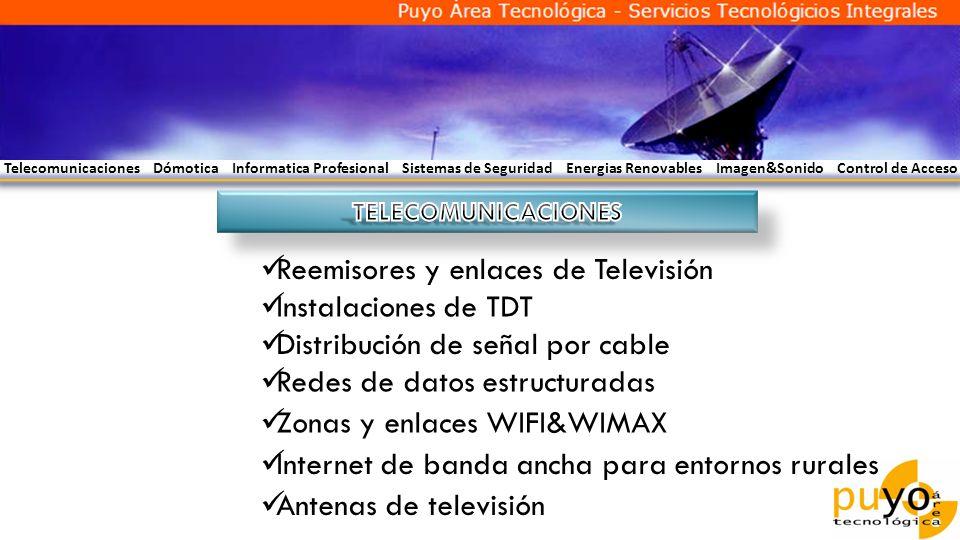 Reemisores y enlaces de Televisión Instalaciones de TDT