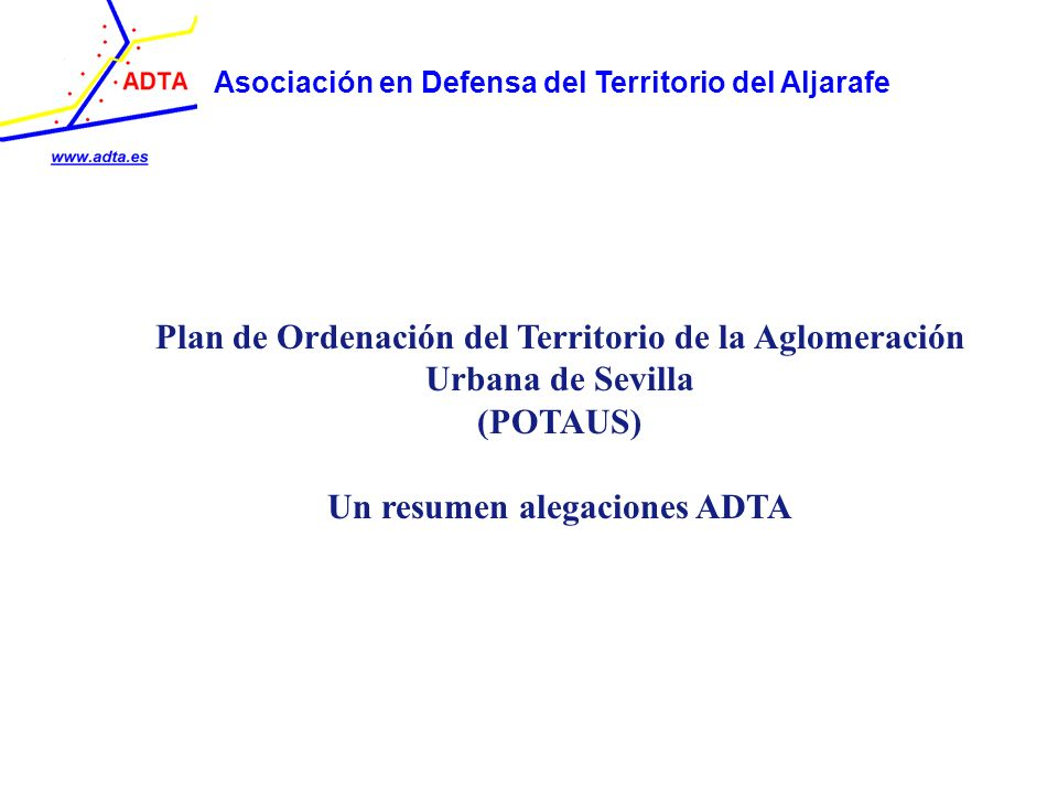 Plan de Ordenación del Territorio de la Aglomeración Urbana de Sevilla