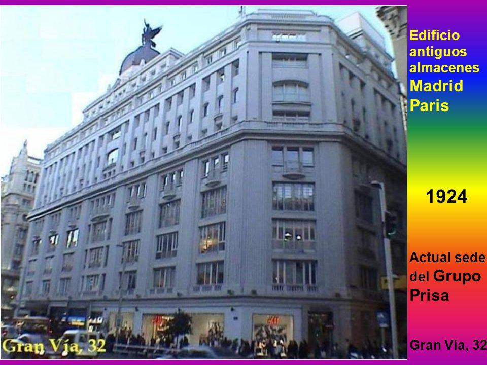 1924 Edificio antiguos almacenes Madrid Paris