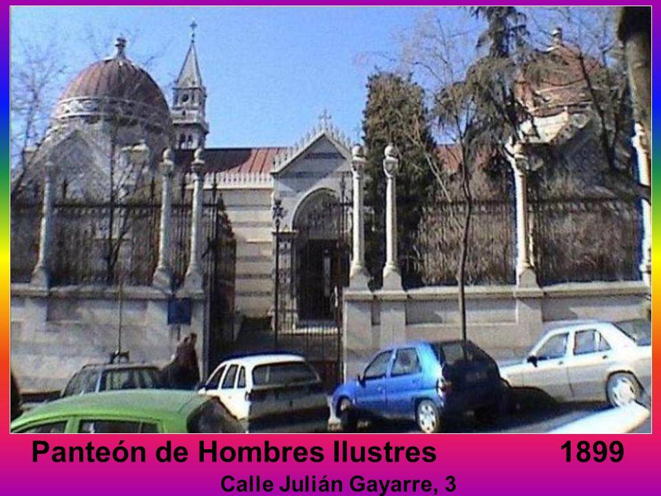 Panteón de Hombres Ilustres 1899