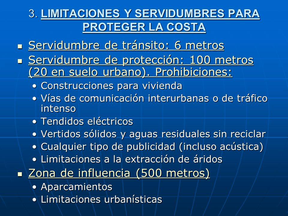 3. LIMITACIONES Y SERVIDUMBRES PARA PROTEGER LA COSTA