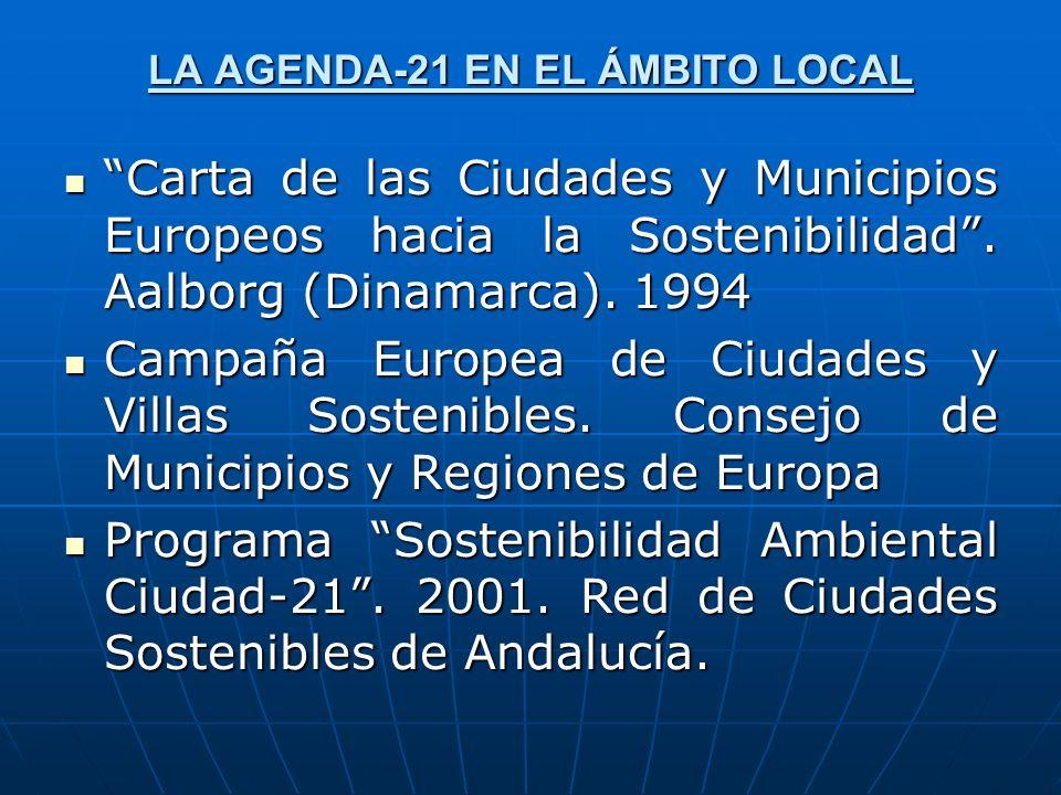 LA AGENDA-21 EN EL ÁMBITO LOCAL