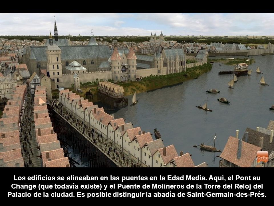 Los edificios se alineaban en las puentes en la Edad Media