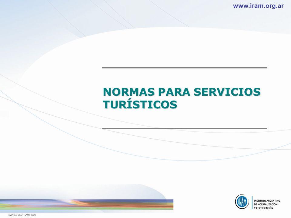 NORMAS PARA SERVICIOS TURÍSTICOS