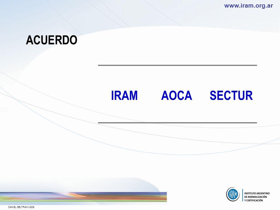 ACUERDO IRAM AOCA SECTUR