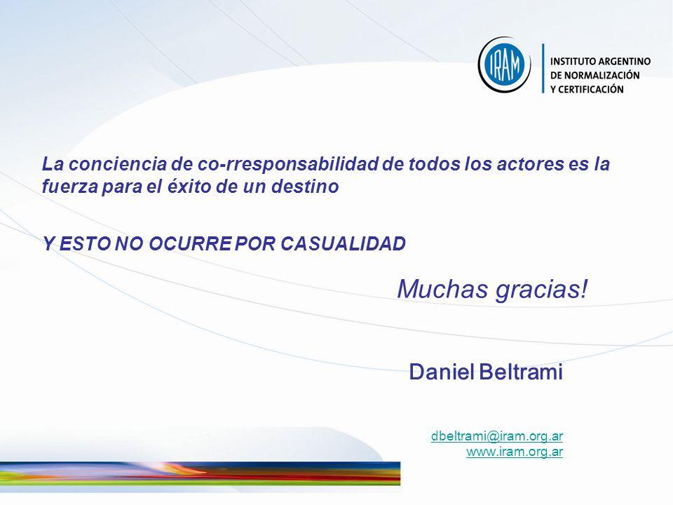 La conciencia de co-rresponsabilidad de todos los actores es la fuerza para el éxito de un destino