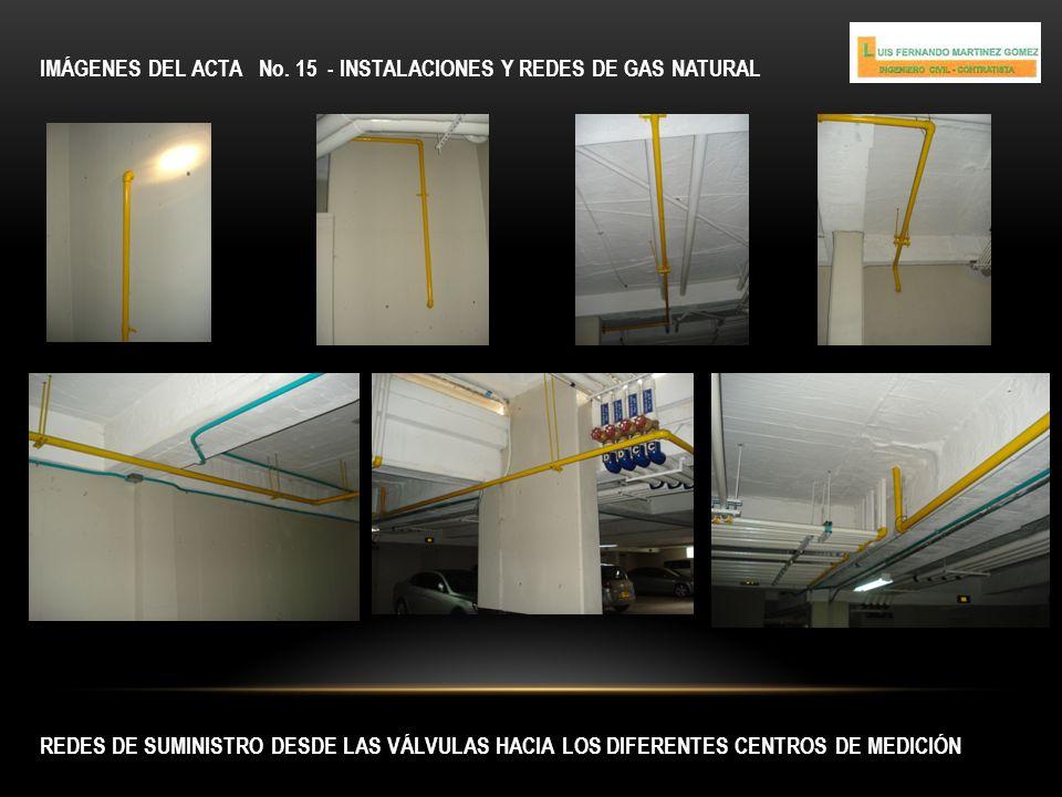 IMÁGENES DEL ACTA No. 15 - INSTALACIONES Y REDES DE GAS NATURAL