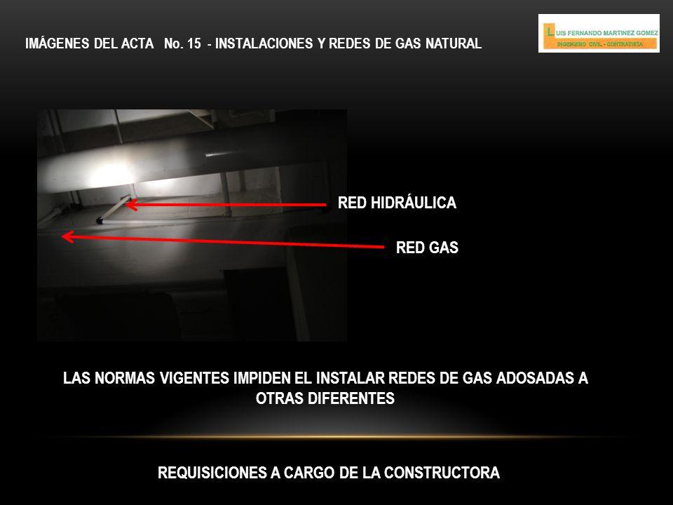 REQUISICIONES A CARGO DE LA CONSTRUCTORA