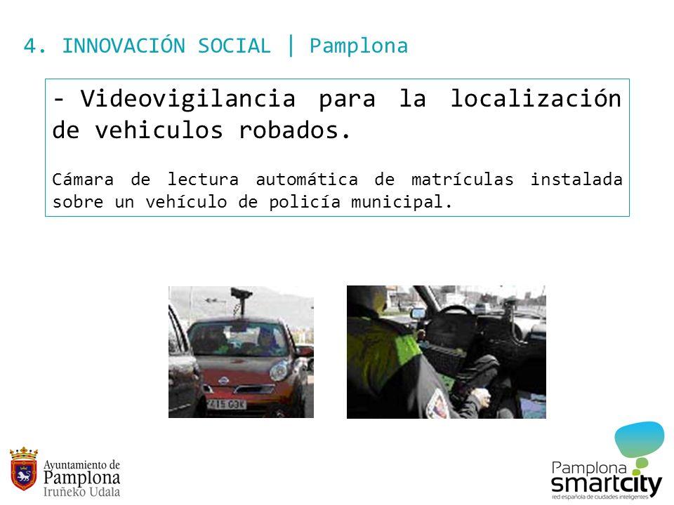 Videovigilancia para la localización de vehiculos robados.