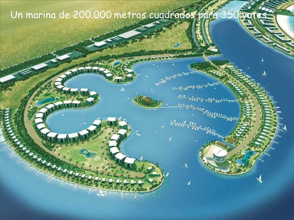 Un marina de 200.000 metros cuadrados para 350 yates.
