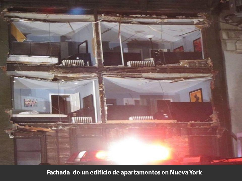 Fachada de un edificio de apartamentos en Nueva York