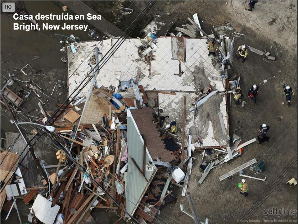 Casa destruída en Sea Bright, New Jersey