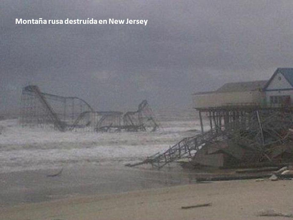Montaña rusa destruída en New Jersey