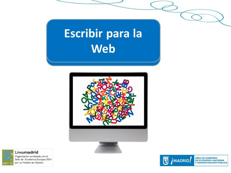 Escribir para la Web Escribir para la Web