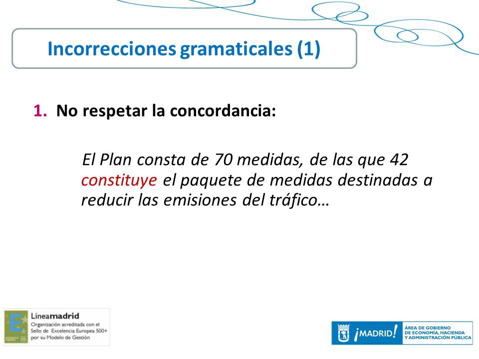 Incorrecciones gramaticales (1)