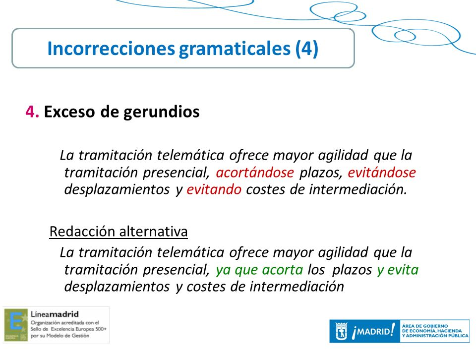 Incorrecciones gramaticales (4)