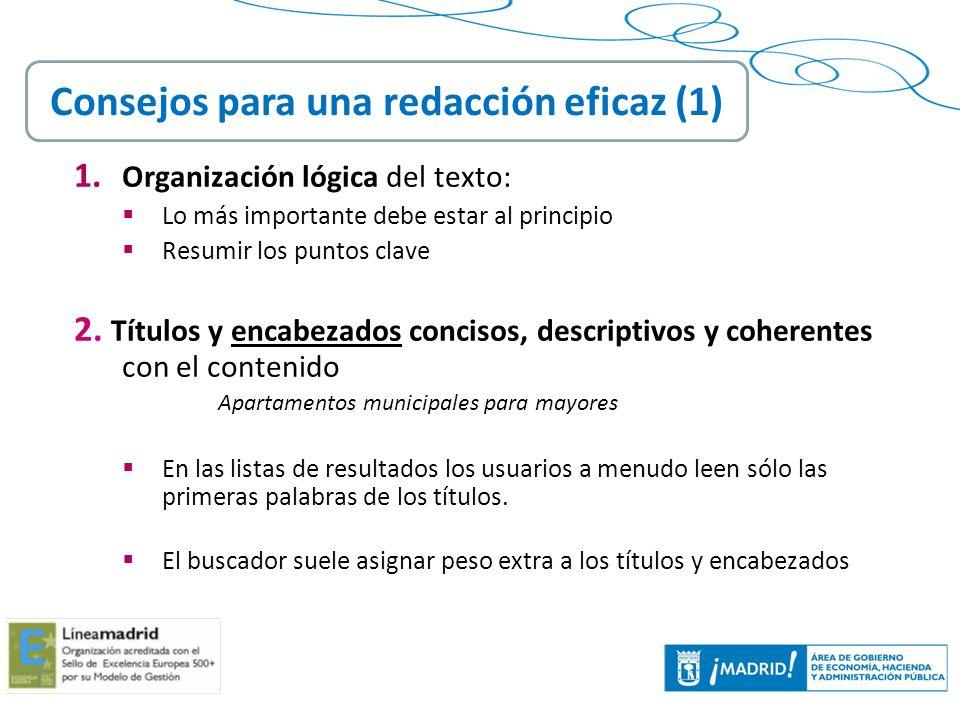 Consejos para una redacción eficaz (1)