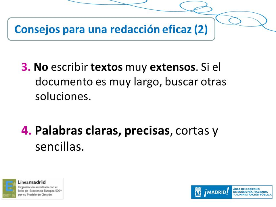 Consejos para una redacción eficaz (2)