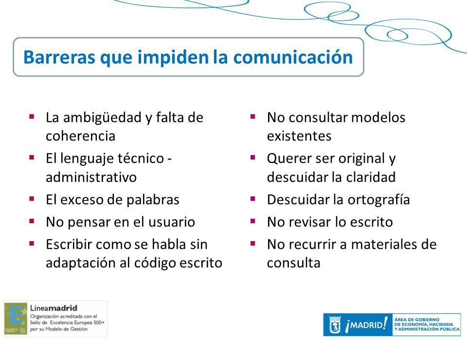 Barreras que impiden la comunicación