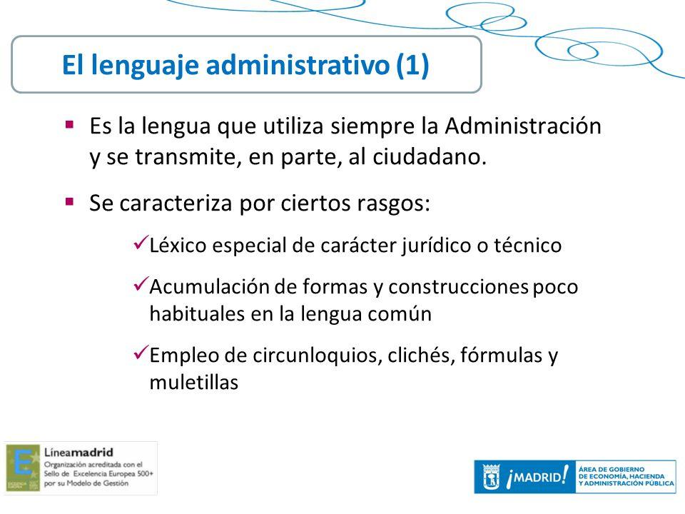 El lenguaje administrativo (1)